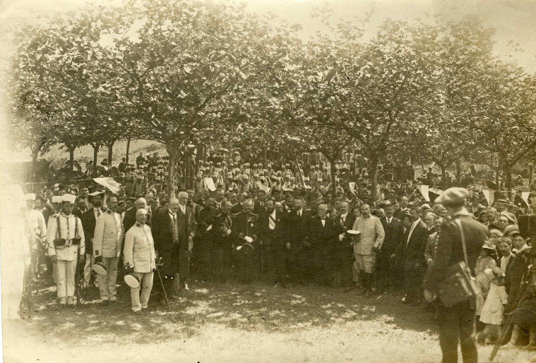 Kanpaina meza San Martzial mendian 1913ko abuztuaren 31n (Argazkia Ricardo Campo)