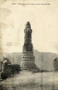 San Martzialeko II. Guduaren mendeurrena ospatzeko egindako monumentua (I.U.A. Fototeka 38643)