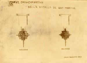 Udalak guduaren mendeurrena oroitzeko sortu zuen dominaren zirriborroa (I.U.A. 959 1)