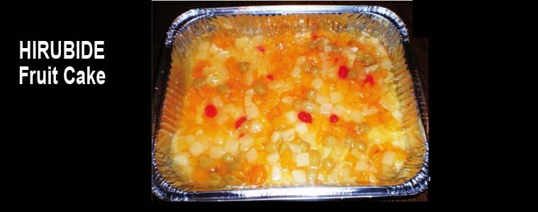 HIRUBIDE BHI. FRUIT CAKE Filipinetako errezeta
