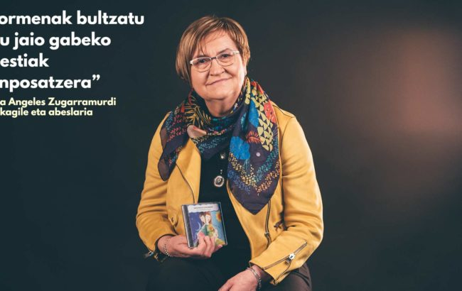 """Maria  Angeles  Zugarramurdi,  musikagile  eta  abeslaria:""""Sormenak  bultzatu  nau  jaio  gabeko    abestiak  konposatzera"""""""