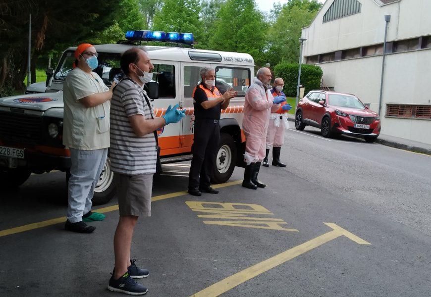 Bidasoa  Ospitaleko  langileak  lehen  lerroan  Koronabirusaren  kontrako  borrokan