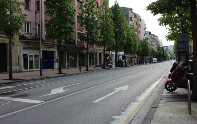 Ordu bateko aparkalekua doan Irungo parkingetan