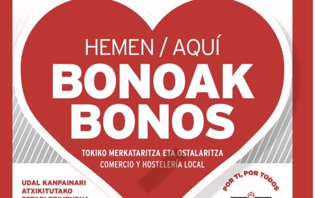 Hiriko merkataritza eta ostalaritza bultzatzeko erosketa bonoak