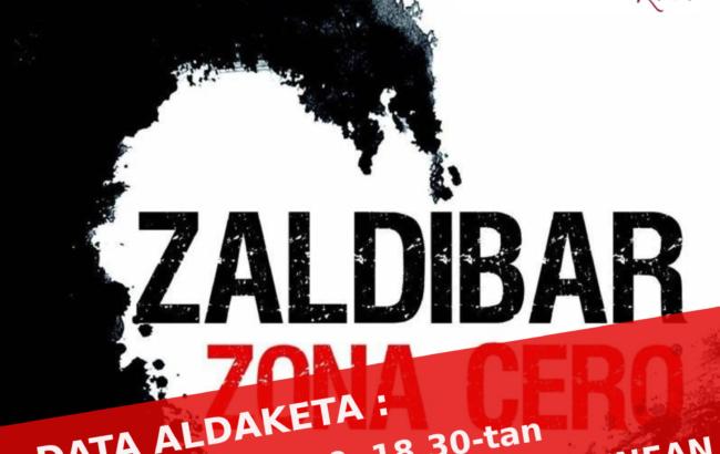 """Ahoztar Zelaietak otsailaren 19an """"Zaldibar zona cero"""" liburua aurkeztuko du Irunen"""