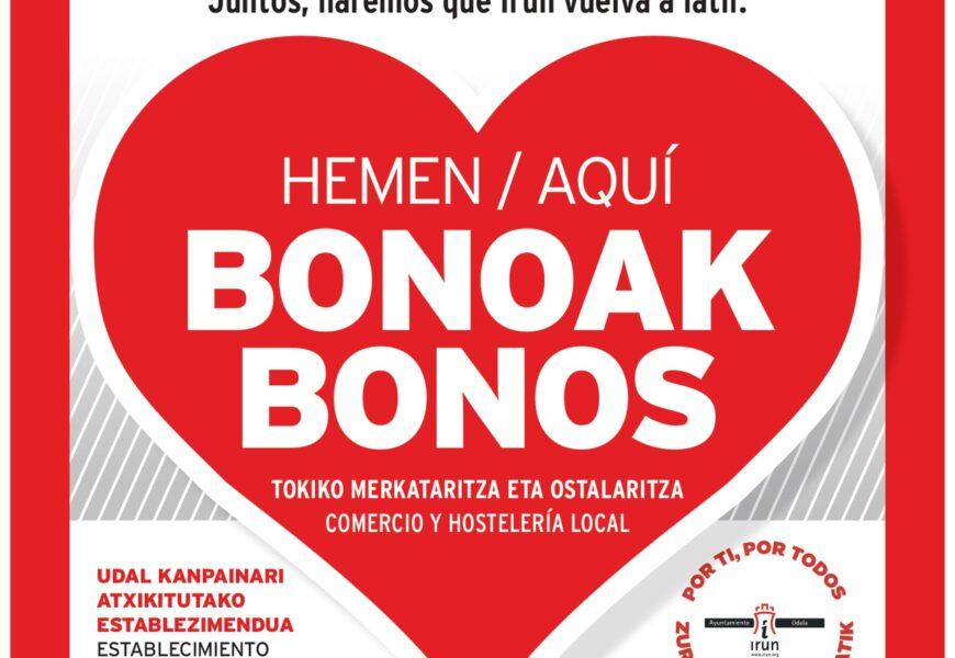 Azken egunak interesa duten establezimenduek Irun Aurrera bonoetan izena eman dezaten